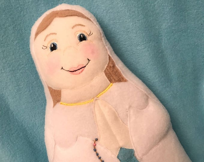 Our Lady of Lourdes, Blessed Mother Soft Saint Dolls, Catholic Saint Doll, Mary Saint Doll, Perfect for little ones to Snuggle.