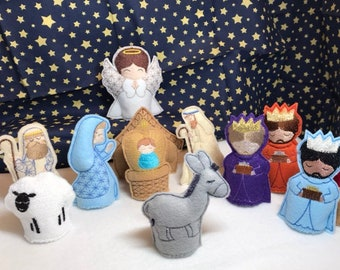 Nativity Scene, Kids Nativity Set,  Felt Nativity for Kids,  Kid friendly Nativity, Childrens Nativity, Handmade Nativity, Christmas Gifts.