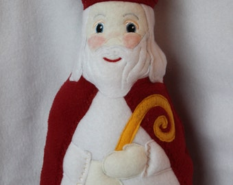 Saint Nicholas Soft Saint Doll, Saint Nick, Santa Doll, Christmas Doll, St Nicholas Day, Soft and Perfect for little ones to Snuggle with.