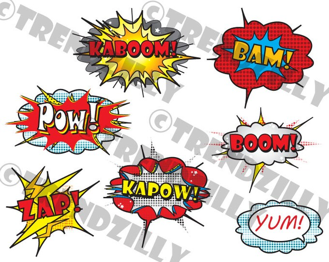 Superhero Cupcake toppers, Comic Book Party, Superhero Birthday,  Cupcake Toppers, Party Signs, Printable Instant download.