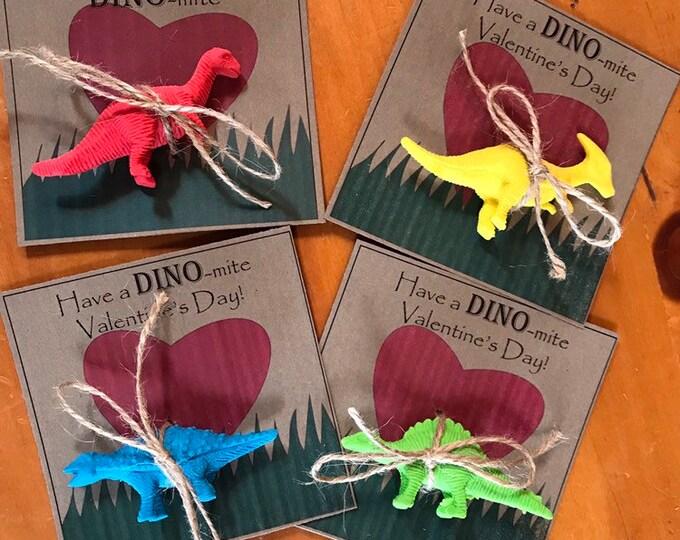 Dinosaur Valentine, Kids Printable Valentine, Dine-mite Valentine, Boy Valentines, Valentine's Day, printable Download