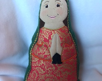 Our Lady of Guadalupe Handmade Soft Saint Dolls, Our Lady of Guadalupe, Blessed Mother, Soft and Perfect for little ones to Snuggle with.
