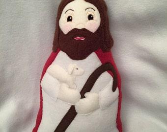 Jesus the Good Shepherd Doll Handmade Soft Saint Doll.