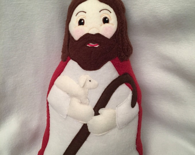 Jesus the Good Shepherd Doll Handmade Soft Saint Doll.