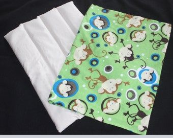 Heat/Cold Therapy Packs with Monkey Print Washable Case, Lavender Scented, Hot Pack, Reusable Heat Pack, Rice Pack, Washable - Reusable