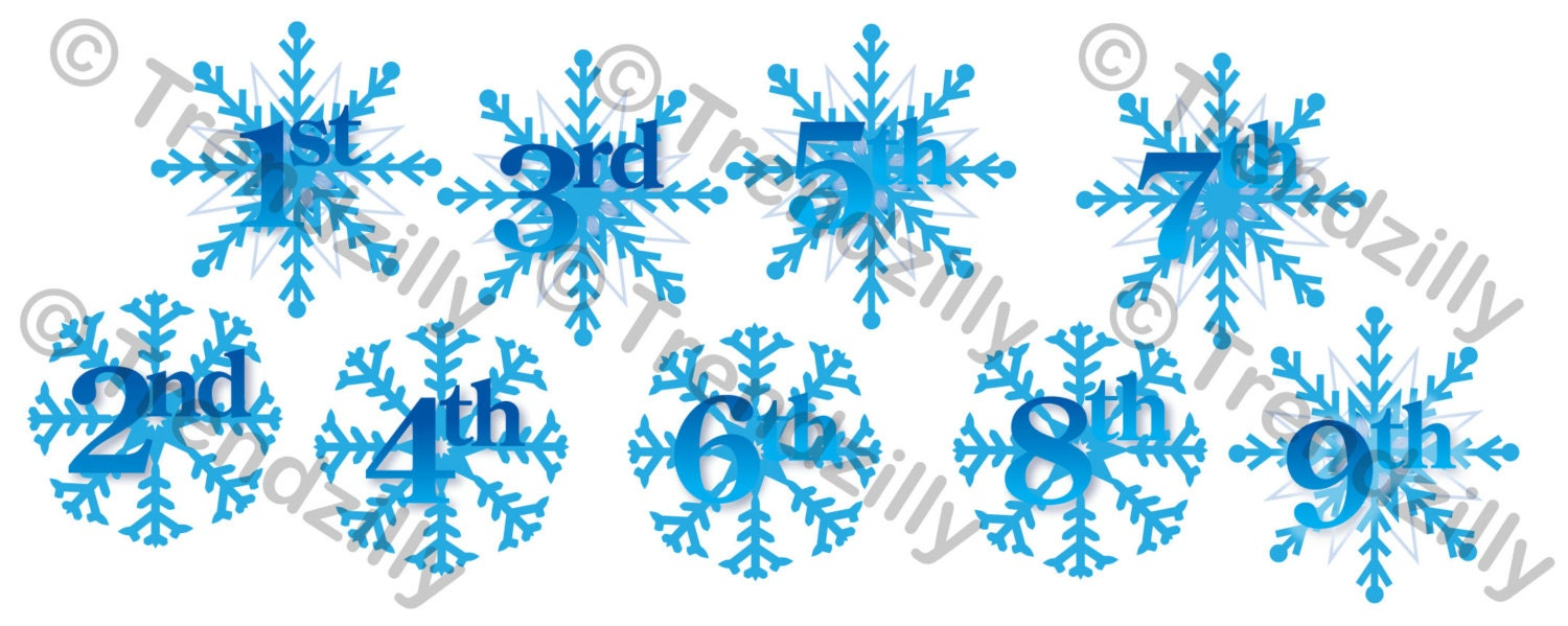 Snowflake Frozen Birthday Banner Number Add-On, Snowflake Party ...