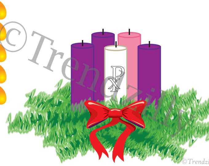Advent Activity Pages, Advent Wreath Printable, Christmas Decoration Printable, Advent Coloring Page, Christmas Download.