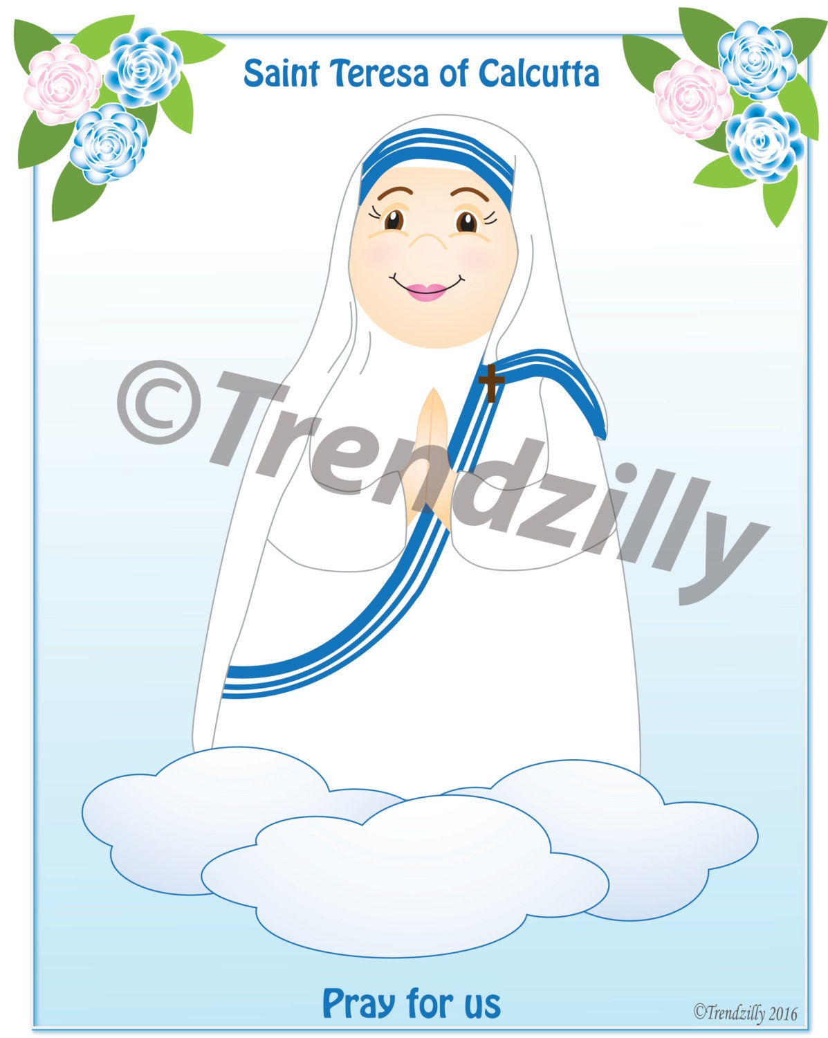 Mother Teresa Of Calcutta Coloring Page And Holy Cards Kids