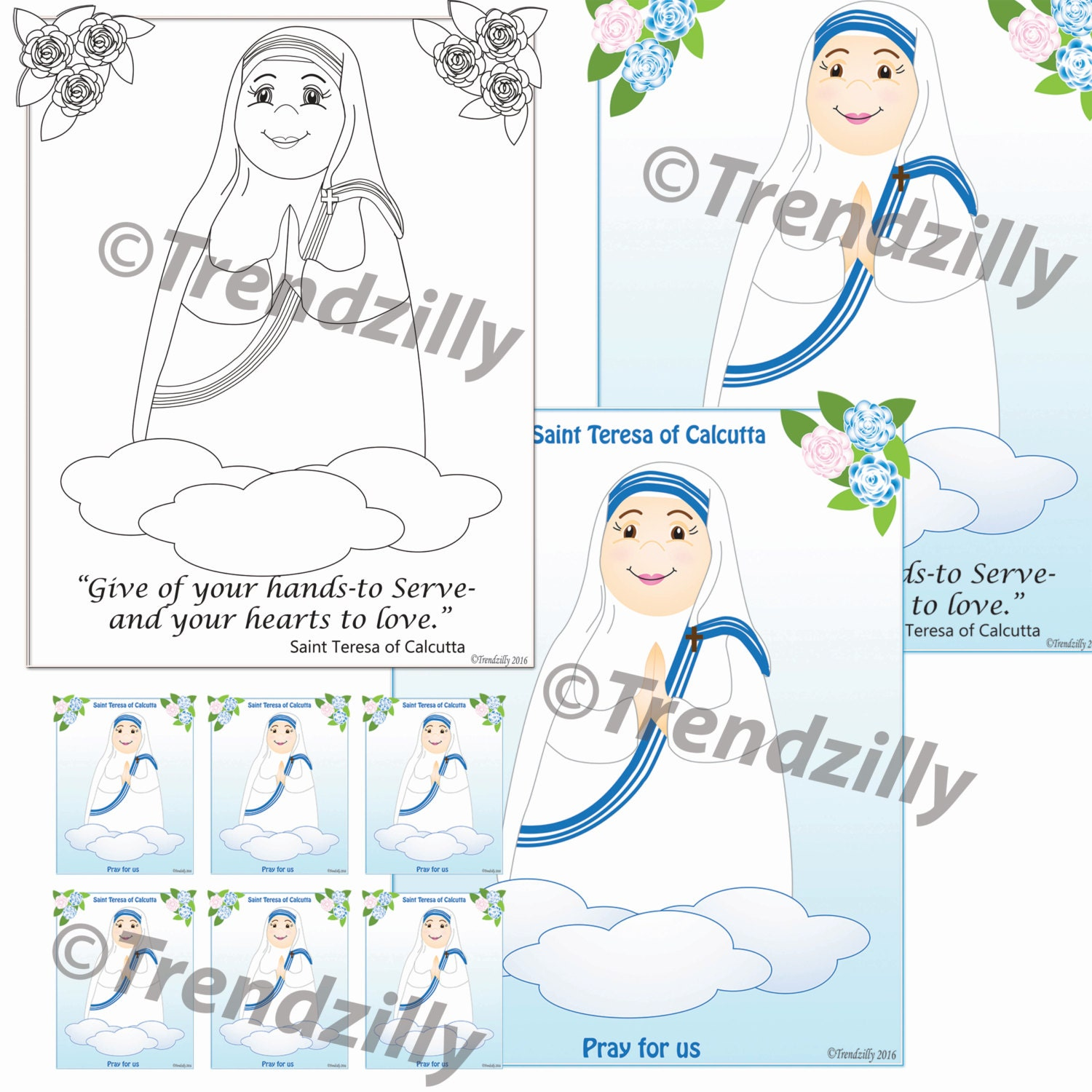 Mother teresa of calcutta coloring page and holy cards kids mother teresa of calcutta coloring page and holy cards kids coloring page holy cards feast day cards trading cards printable download m4hsunfo