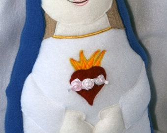 Immaculate Heart of Mary Soft Saint Dolls, Catholic Doll, Mary Doll, Virgin Mary Doll, Our Lady, Mother Mary Doll, Blessed Mother Doll.