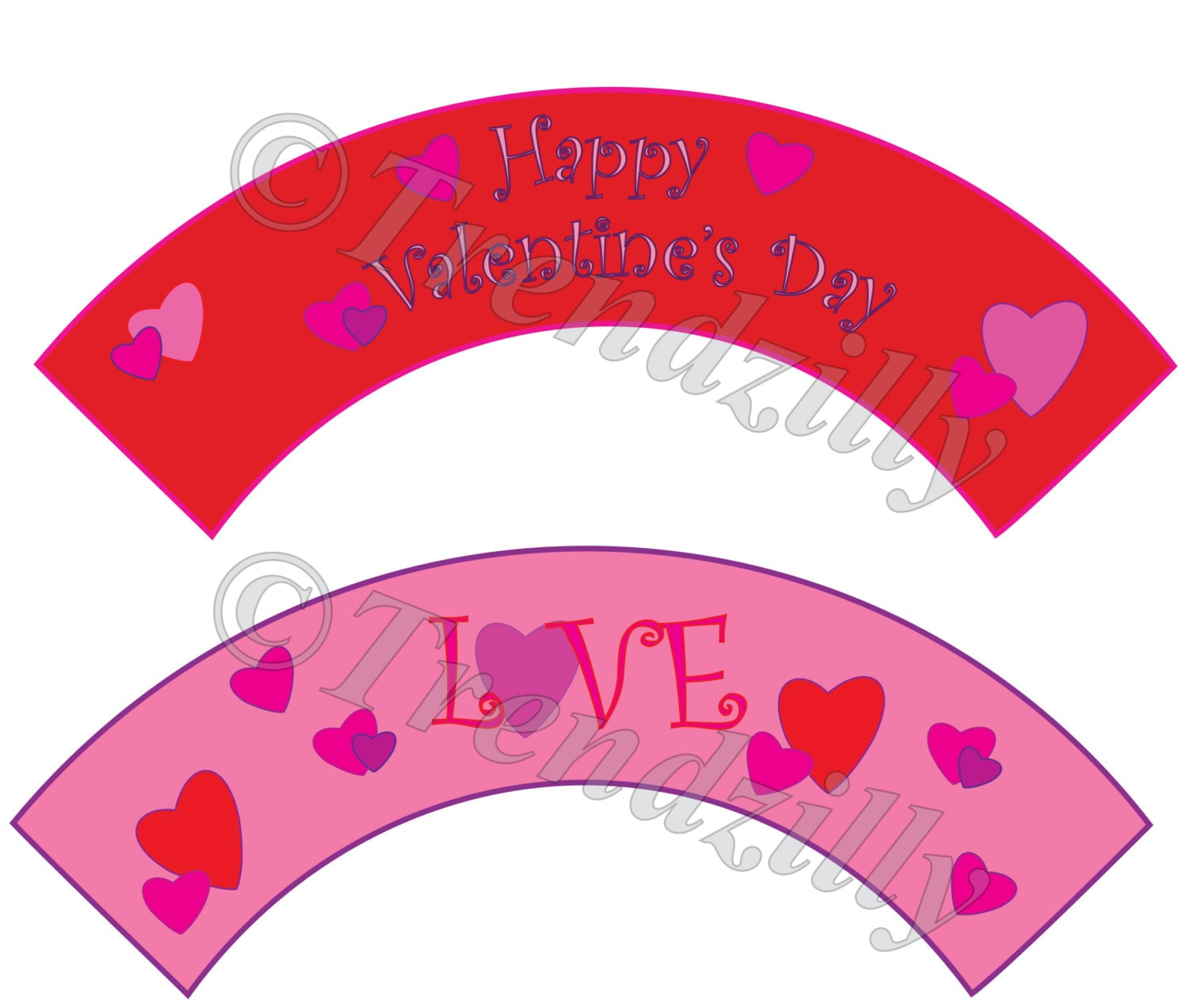 photograph relating to Valentine Stickers Printable titled Valentine Cupcake Wrapper and Toppers, Centre Valentines