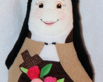 St Therese Soft Saint Doll, Nun Doll, Saint Therese of Lisieux, The Little Flower Plush Doll, Catholic Saint doll, Saint Dolls, Catholic toy