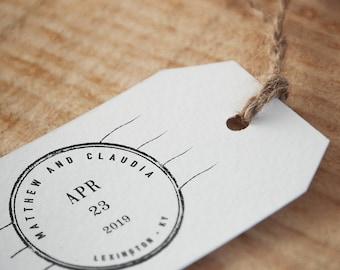 Save The Date Stamp -- Custom Save The Date Stamp; Wedding Date Stamp (Vrs1)