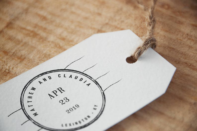 Save The Date Stamp  Custom Save The Date Stamp Wedding image 0