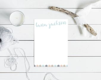 Personalized Notepad -- Personalized Note Pads, Personalized Stationery, Stationary, Personalized Gift, Custom Notepad, Office.