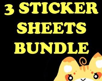 Pick Any 3 Sticker Sheets!