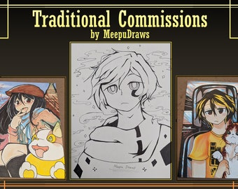 CUSTOM Traditional Anime-Styled Art Commissions