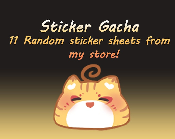 Featured listing image: Sticker Gacha - 11 Random Sticker Sheets!