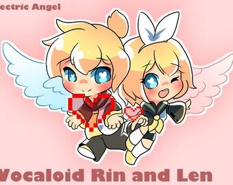Rin and Len Single Sticker Sheet