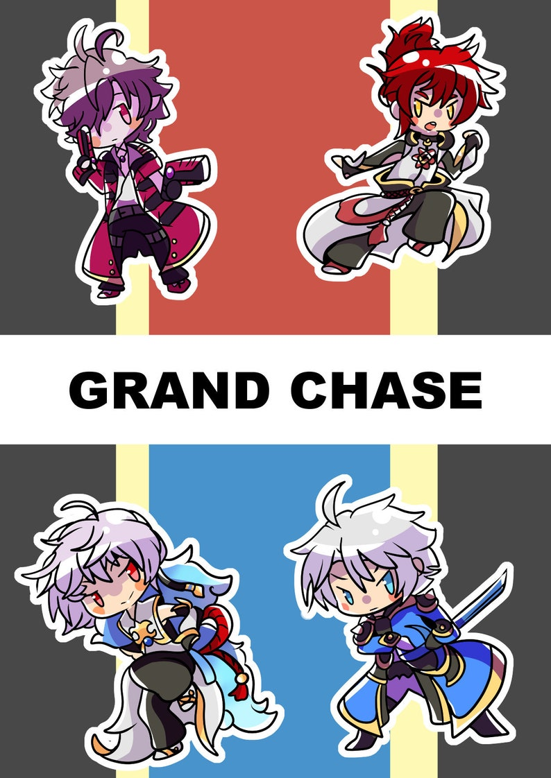 Grand Chase Dimensional Chaser Mini Sticker Sheet [Ver  1]