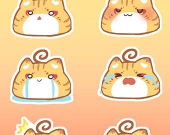 Meepu Emotes Sticker Sheet