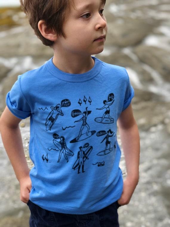 Youth Coastal Camping Bamboo and Organic Cotton T-Shirt