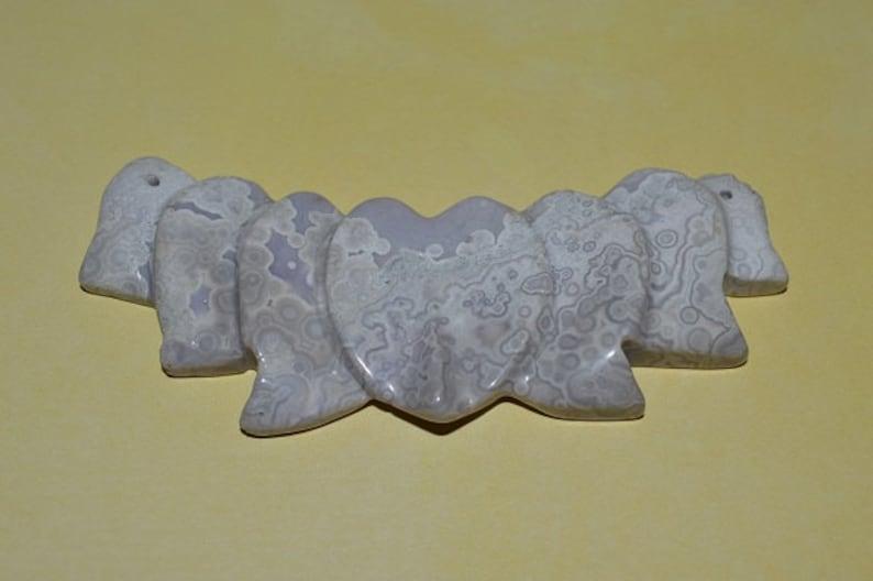 1060256 Vintage Large Lace Agate Center Accent Pendant