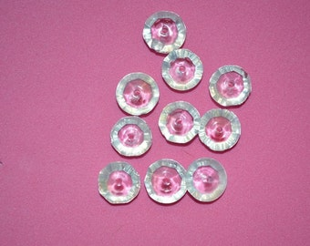 10 - 10x4mm Faceted Saucer Crystal Beads -