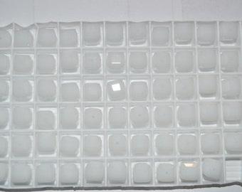 12 - 5601 - 6mm Genuine Swarovski Crystal Bead Cubes - White Alabaster