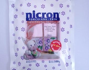 PORCELANA Cold porcelain Nicron Pasta flexible masa flexible AIR DRY CLAY,CRAFT