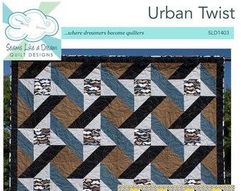 Urban Twist - PDF star quilt pattern