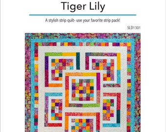 Tiger Lily PDF Quilt Pattern