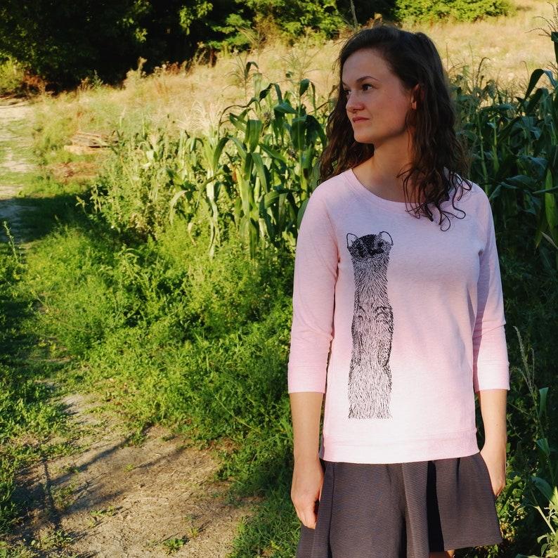 Pastel Pink Women's Sweater  Fair trade Sweatshirt image 0