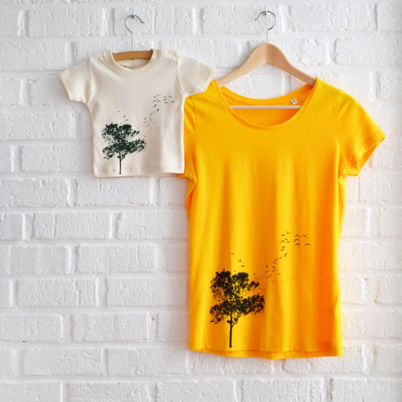Mom and Son Matching T-shirt Set with Tree print  Mothersday image 0