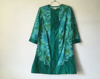 Vintage Oriental Silk Dress