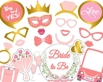 graphic relating to Free Printable Bridal Shower Photo Booth Props named Flower bride props Etsy
