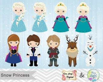 Instant Download Snow Princess ClipArt 9b496e91f787