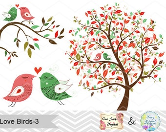 Heart Tree Clipart Etsy