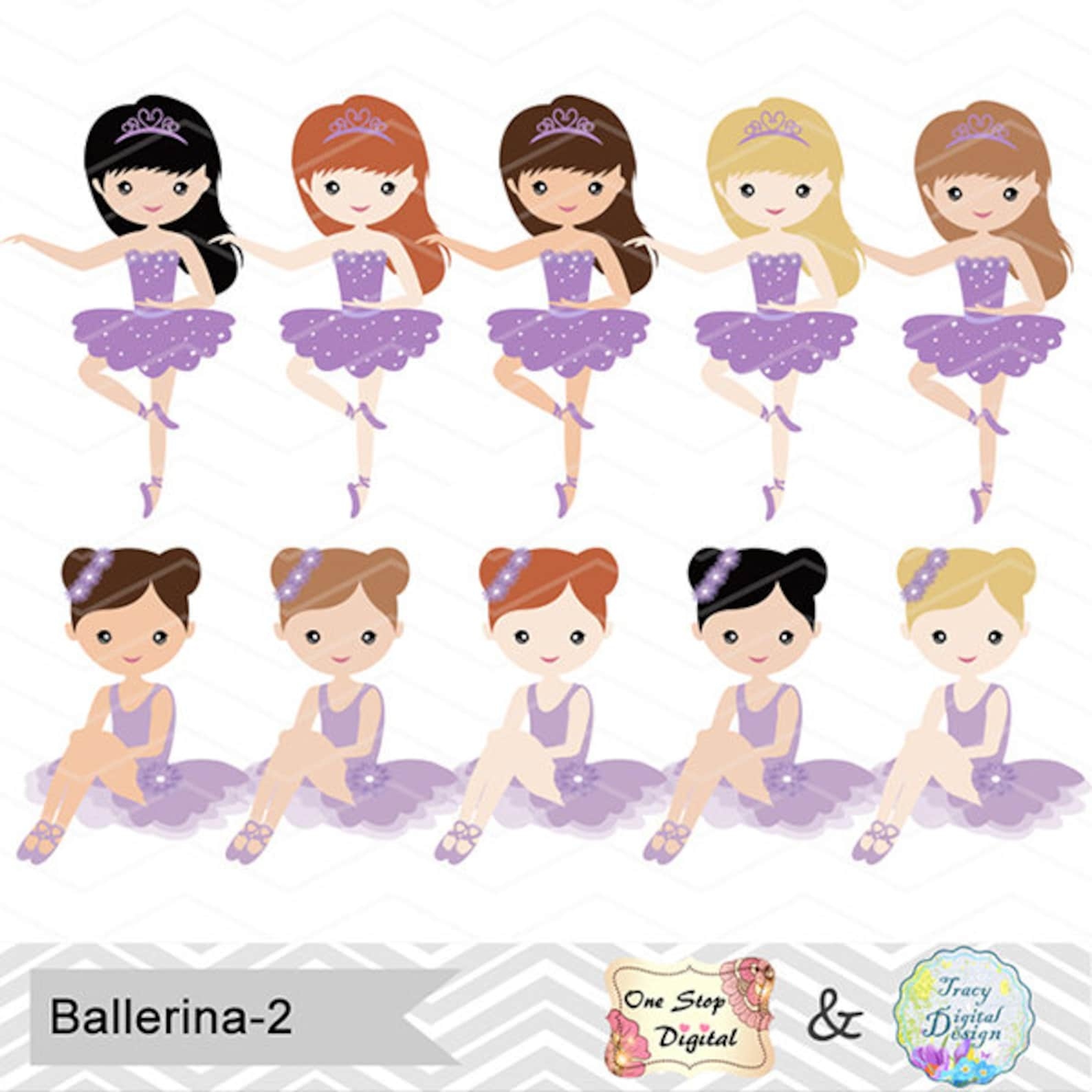 digital ballerina clip art, ballet clipart, purple ballet girls clip art, purple ballet shoes, purple ballet dress, ballet dance