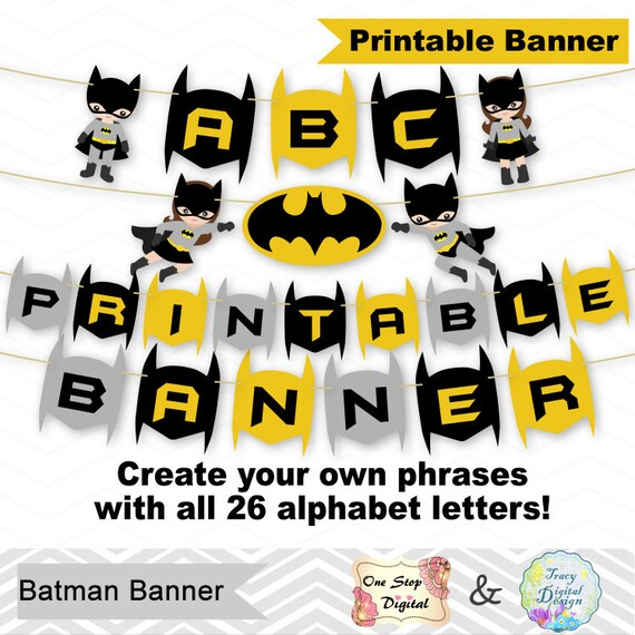 graphic regarding Batman Printable referred to as Fast obtain Batman Birthday Get together Banner, Printable Batman Banner, Electronic Superhero Banner, Printable Superhero Social gathering Banner 0288