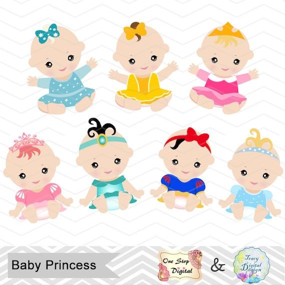 Digital Baby Princess Clipart Princess Baby Clip Art Fairy Etsy