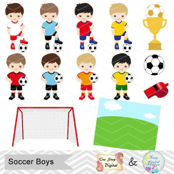 Sofortiger Download Fussball Junge Digitale Clipart Fussball Jungen Clipart Digitale Soccer Team Clipart Fussball Clipart Sport Clipart 0256