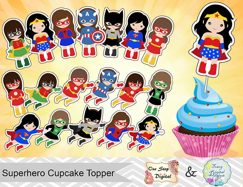 picture regarding Superhero Cupcake Toppers Printable named 18 Printable Superhero Women of all ages Cupcake Topper, Instantaneous Obtain Superhero Ladies Cupcake Topper, Superhero Lady Cupcake Topper 00511