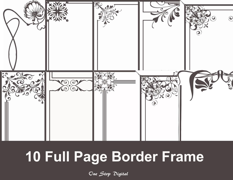 INSTANT DOWNLOAD volle Seite Frames Grenzen ClipArt Rahmen | Etsy