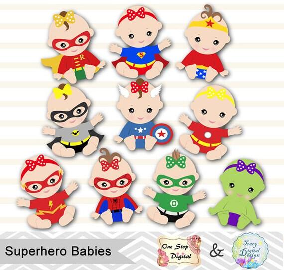 digital superhero baby girls clipart superhero baby clip art etsy rh etsy com superhero clipart alphabet superhero clipart alphabet