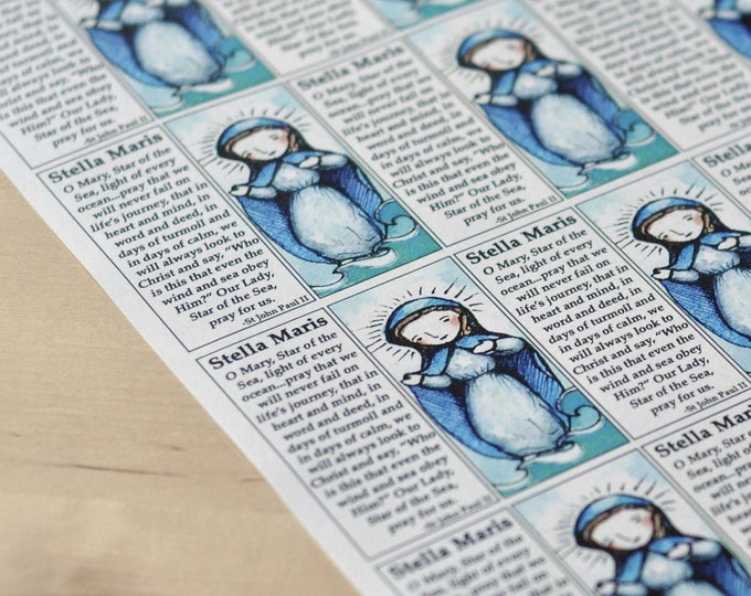 Saint Craft Sheets of your choice // 150+ saints to choose from // decoupage // Catholic DIY by AlmondRod Toys