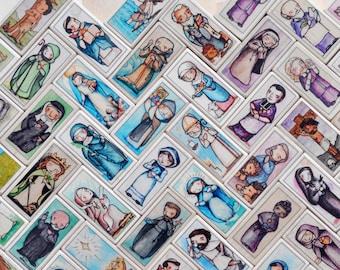 20 Patron Saint Blocks of your choice // 150+ saints to choose from // Catholic Toys by AlmondRod Toys