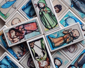 One Patron Saint Block of your choice // 150+ to choose from // Catholic Toys by AlmondRod Toys
