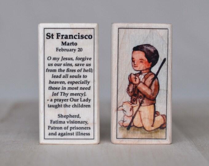St Francisco of Fatima Patron Saint Block // Catholic Toys by AlmondRod Toys