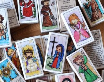 3 Saint blocks of your choice // Catholic gift // Catholic toys //